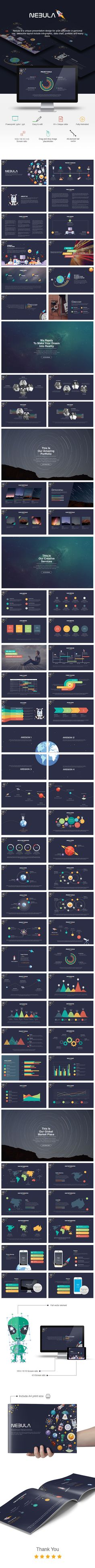 Nebula Powerpoint Presentation Template #design #slides Download: http://graphicriver.net/item/nebula-powerpoint-presentation/13684549?ref=ksioks
