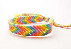 Macrame Friendship Bracelet- Rainbow Chevron
