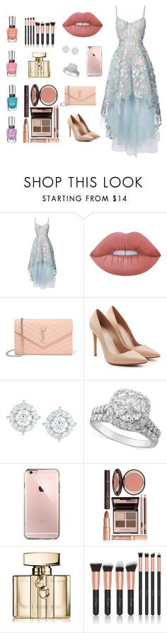 """""""only me #2"""" by zinasalaitah ❤ liked on Polyvore featuring Notte by Marchesa, Lime Crime, Yves Saint Laurent, Alexander McQueen, Mémoire, Charlotte Tilbury and Gucci"""
