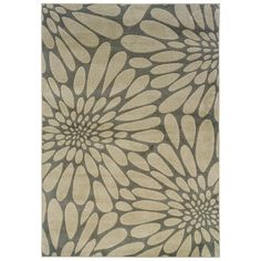 Shop Oriental Weavers of America Upton 7-ft 10-in x 10-ft 1-in Rectangular Gray Floral Area Rug at Lowes.com