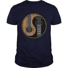 I Love Guitar Yin Yang Shirt T-Shirts