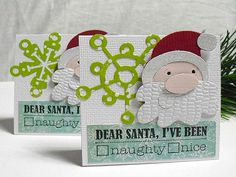 Naughty or nice SANTA cards