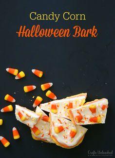 Homemade Candy Corn Halloween Bark