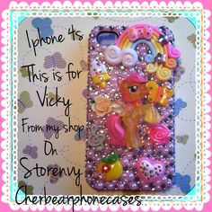 This is a fully covered Fluttershy iPhone 4s case from my shop on Storenvy.com- Cherbearphonecases - Contact me for a custom case,I can do anything on any case!