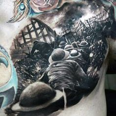 90 black ink tattoo designs for men - dark ink ideas. Military Sleeve Tattoo, Military Tattoos, Army Tattoos, Military Drawings, Owl Tattoos, Fish Tattoos, Lion Tattoo Design, Tattoo Designs Men, Black Ink Tattoos