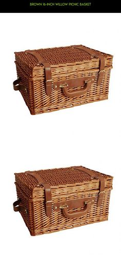 Brown 16-inch Willow Picnic Basket #products #kit #fpv #technology #shopping #cube #parts #9 #racing #camera #drone #storage #tech #organizer #gadgets #plans