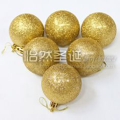 Christmas tree decoration 6cm gold silver red purple glitter christmas ball christmas ball 80g-in Christmas Decoration Supplies from Home & Garden on Aliexpress.com