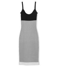 Narciso Rodriguez Black and White Dress - We could live in slipdresses! This black and white Narciso Rodriguez version is 90s minimalism at its best.