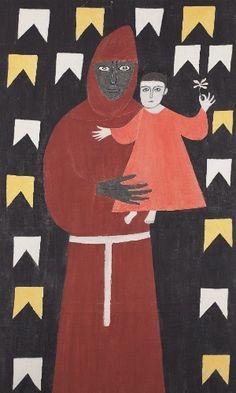 São Benedito. Década de 1960. Alfredo Volpi (1896-1988). Artista ítalo-brasileiro.