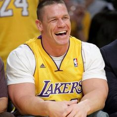 John Cena Sporting his purple and gold that is pretty awesome coming from a Boston native.