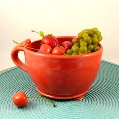 Ceramic Colander or Berry Cup SHIPS TODAY by BlueSkyPotteryCO, $35.00