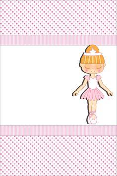 Passatempo da Ana: Kit: Bailarina