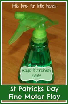st patricks day magic spray - repinned by @PediaStaff – Please Visit ht.ly/63sNtfor all our pediatric therapy pins