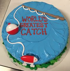 World's greatest catch Father's Day fishing DQ ice cream cake