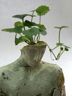 contemporary art Mixed media sculpture by Peruvian contemporary artist Emil Alzamora Growth And Decay, 3d Fantasy, Art Sculpture, Human Sculpture, Sculpture Garden, Oeuvre D'art, Wall Collage, Art Inspo, Contemporary Art