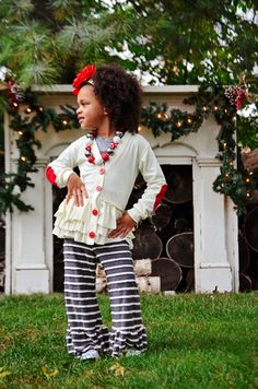 Girls Ivory or winter white ruffle Cardigan by ISADORAKIDS on Etsy, $46.00