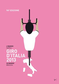 Giro 2013 poster by Chungkong // Le Tour d'Italie sur le Blog de l'Ardoisier : http://21virages.free.fr/blog/index.php?tag/Giro%20d%20Italia