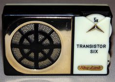 Vintage Sky Lark 6-Transistor AM Radio, Model AK-650, Made in Japan.