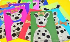 Newspaper Dog Projects - art project - craftivity - craft project - bulletin board display