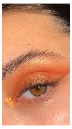 Bronzy Eye Makeup, Makeup Eye Looks, Eye Makeup Art, Dramatic Makeup, Natural Eye Makeup, Skin Makeup, Cute Makeup Looks, Beauty Makeup, Hooded Eye Makeup Tutorial