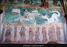 Znalezione obrazy dla zapytania gotyckie malarstwo scienne w polsce