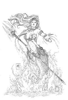 Little Mermaid by Kromespawn.devian… on Little Mermaid by Kromespawn. Mermaid Tattoo Designs, Mermaid Drawings, Mermaid Tattoos, Mermaid Art, Siren Tattoo, Freundin Tattoos, Mermaid Coloring Pages, Mermaids And Mermen, Desenho Tattoo