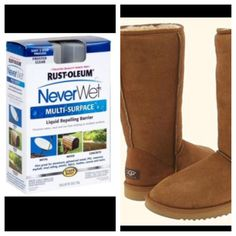 Boot season is here. Never wet will help with keeping uggs clean.