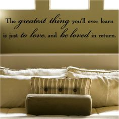 We have this on our living room wall. It's one of my favorite quotes, and it looks really nice. :)