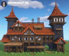 Casa Medieval Minecraft, Minecraft House Plans, Cute Minecraft Houses, Minecraft Room, Minecraft House Designs, Amazing Minecraft, Medieval Houses, Minecraft Blueprints, Minecraft Creations