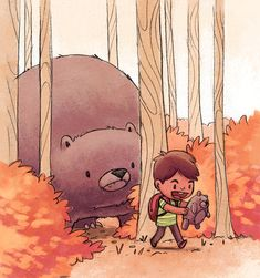 Bears by Jacob Grant, via Behance