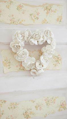 Easy DIY Valentine Wreath - White Lace Cottage