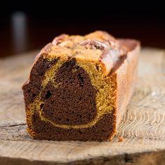 Découvrez la recette du cake marbré chocolat-caramel
