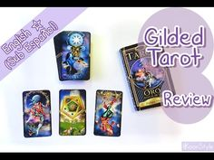 """Hello my friends~ today I'd like to share with you a small review of the """"Gilded Tarot"""" deck illustrated by Ciro Marchetti and written by Barbara Moore. The box comes with a small but useful guidebook plus all the mayor and minor arcana cards. In the video I use my trimmed Gilded Tarot which also has dark edges, painted by myself hehe ;D"""