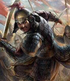 Jochi Khan leading the charge of the Mongol infantry