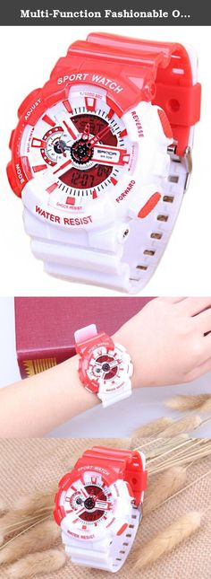 Multi-Function Fashionable Outdoor Waterproof Sport Kids Watch For Boys Girls Wrist Watches Red+White. 100% New high quality Gender:For Boys and Girls Watch Model: Sport Watches Clasp: Buckle Fit Wrist: 5.12-9.15inches Multi-function with calendar and Noctilucent, Date, Week Display. Alarm Function, Shock Resistant, Water Resistant, Chronograph User selectable 12/24-hour format Note: Water resistant (You can swim and take a shower with wearing it, but please don't press any keys when...