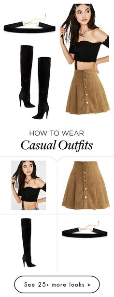 """""""Casual Street Look"""" by hayleydalton on Polyvore featuring Bear Dance, Chicwish, Yves Saint Laurent, Sexy and CasualChic"""