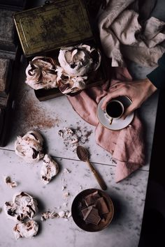 """The combination here of chestnuts and dark chocolate is pure heaven. Pair it with """"crispy on the outside and chewy on the inside"""" pavlovas and - - bliss."""