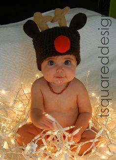 HELLO cute Rudolph baby hat!
