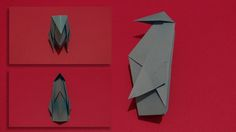 Origami Penguin is a 3D model that can stand on its own once complete. There are no cuts in making this origami model and it can easily be made.
