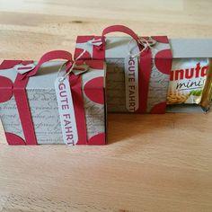 """""""Meine Schwester fährt mit ihrem Mann in zwei Tagen in den Urlaub, da hab ich schnell noch ein paar Goodies gebastelt  #stampinup #stampinupdeutschland…"""""""