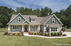 3-Bedroom Single-Story The Cline Cottage Home with a Bar (Floor Plan)