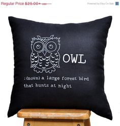 CHRISTMAS+SALE+OWL+Pillow+Cover+Throw+Pillow+Cover+by+KainKain