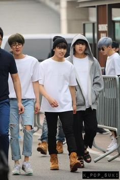 bts (in the image) jin, jungkook, v and rap monster Jung Kook Bts, Bts Jin, Taekook, Zion T, Bts Airport, Kim Taehyung, K Idol, About Bts, I Love Bts