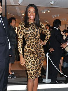 His eyes will be glued on you all night in a hot animal print. Jennifer Hudson gets it right in this pic.