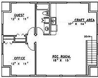 Garage Apartment Floor Plans 2 Bedroom bedrooms:2 baths:2 stories:1 living area:1,000 sq. ft. width/depth