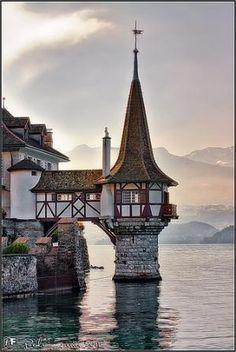 Oberhofen Castle, Switzerland by Eva0707