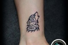 Tattoo wolf is a good choice for your small tattoo.