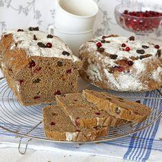 Russin och lingon kan uteslutas om du inte vill ha det i brödet.