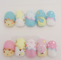 ☆ little twin stars nails ☆