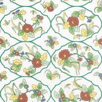 Sherle Wagner Mums Wallpaper in Green